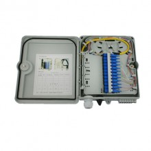 8 Core Fiber Optic Distribution Box ABS/PC Material For FTTH Network