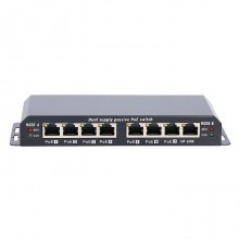 KRATOS GIGABIT POE SWITCH 8-7 PORT 24V 60W WITH POWER ADAPTER 24V 2.5A