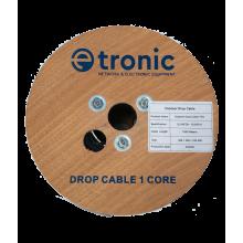 Outdoor FTTH Optical Fiber Drop Cable 1 FO